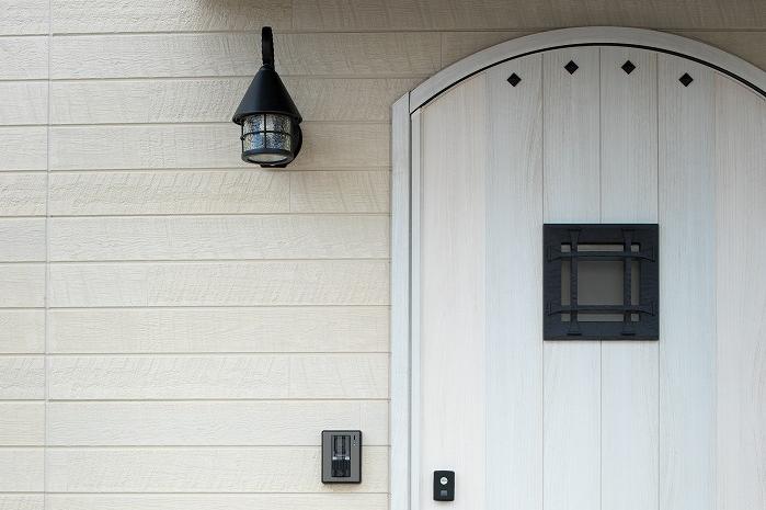 パン屋さんの家のドア