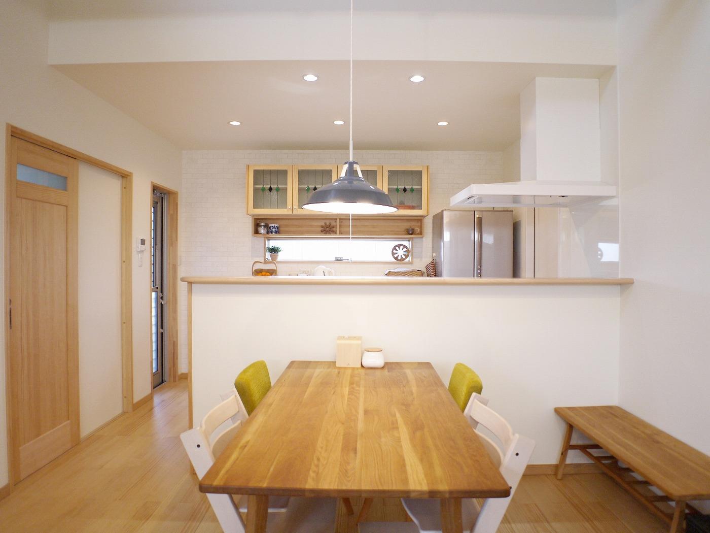 高松市の新築注文住宅のダイニング