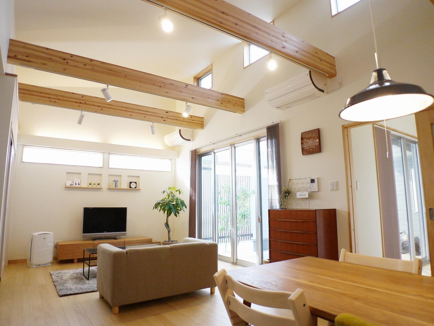 高松市の新築注文住宅のリビング