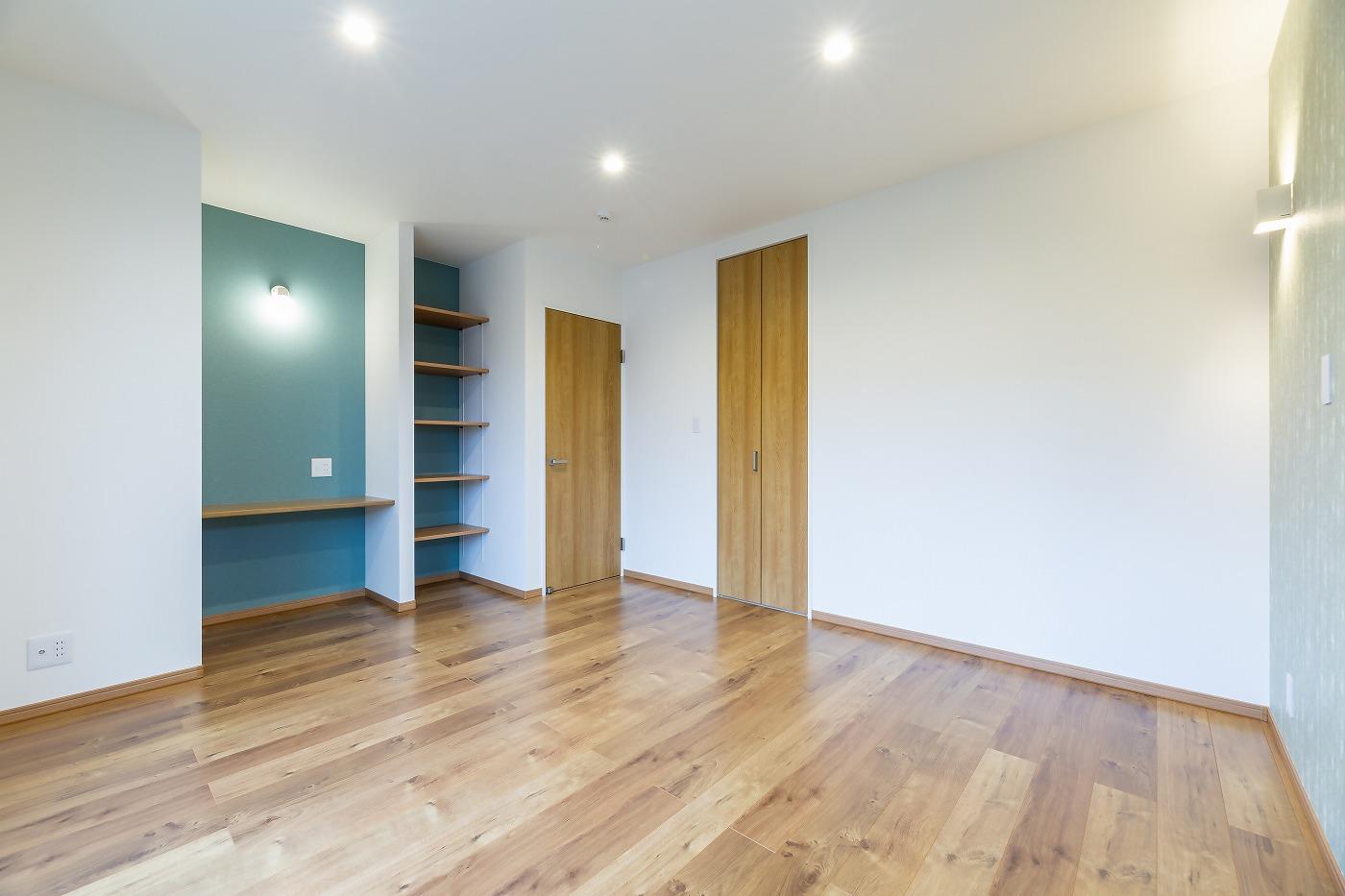 高松市松縄町の新築分譲住宅の寝室