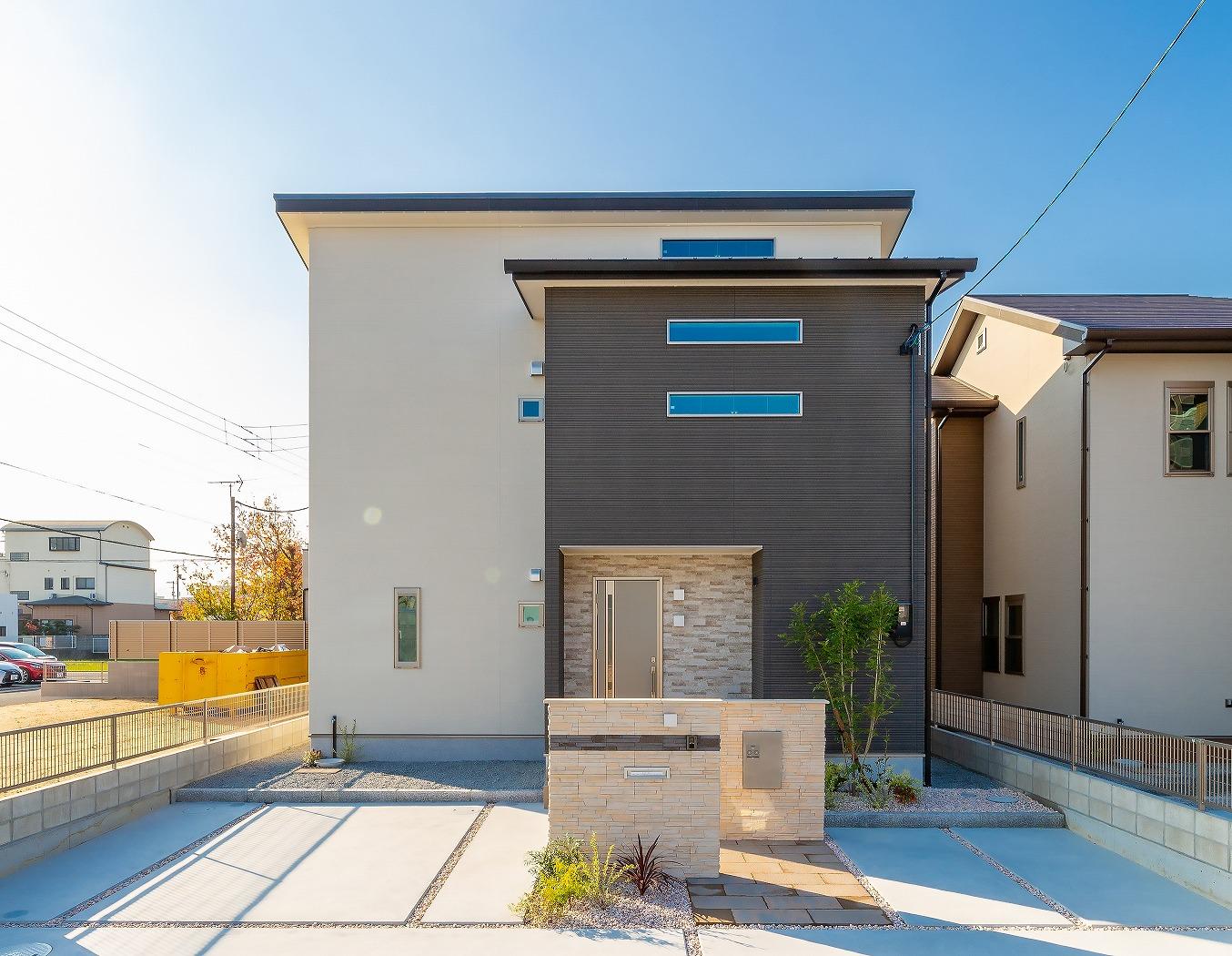 高松市松縄町の新築分譲住宅の外観