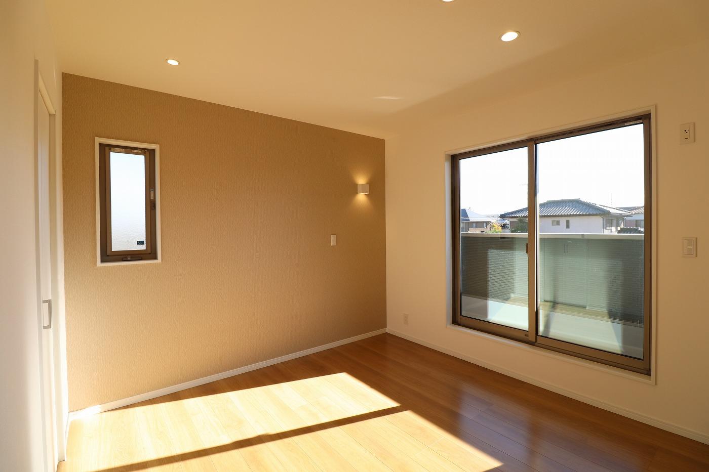 高松市木太町の新築分譲住宅の寝室