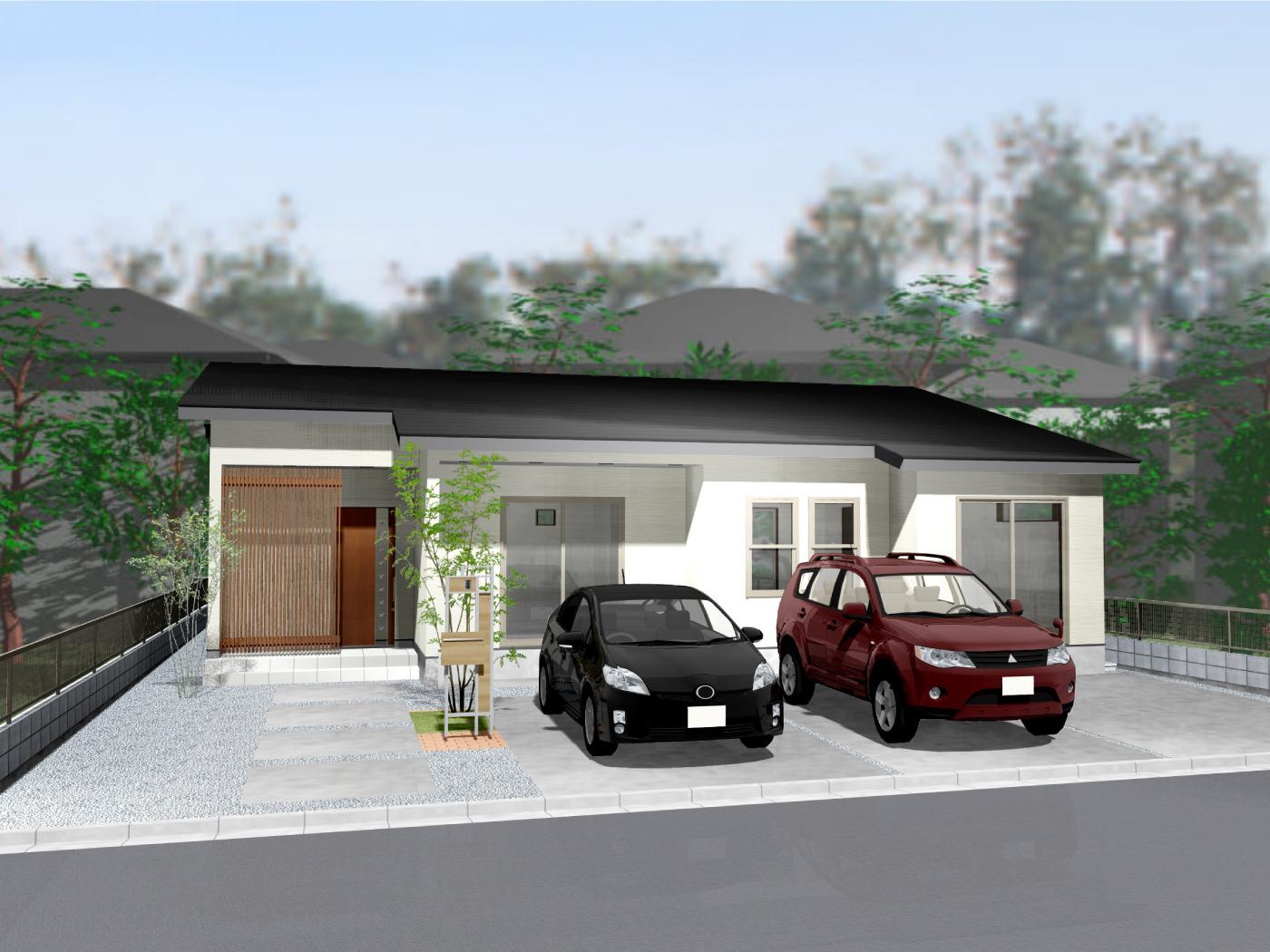 高松市下田井町の新築分譲住宅平屋の外観