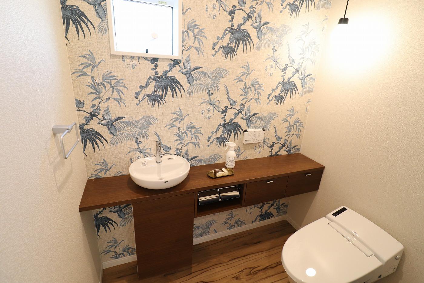 高松市鬼無町の新築分譲住宅平屋のトイレ