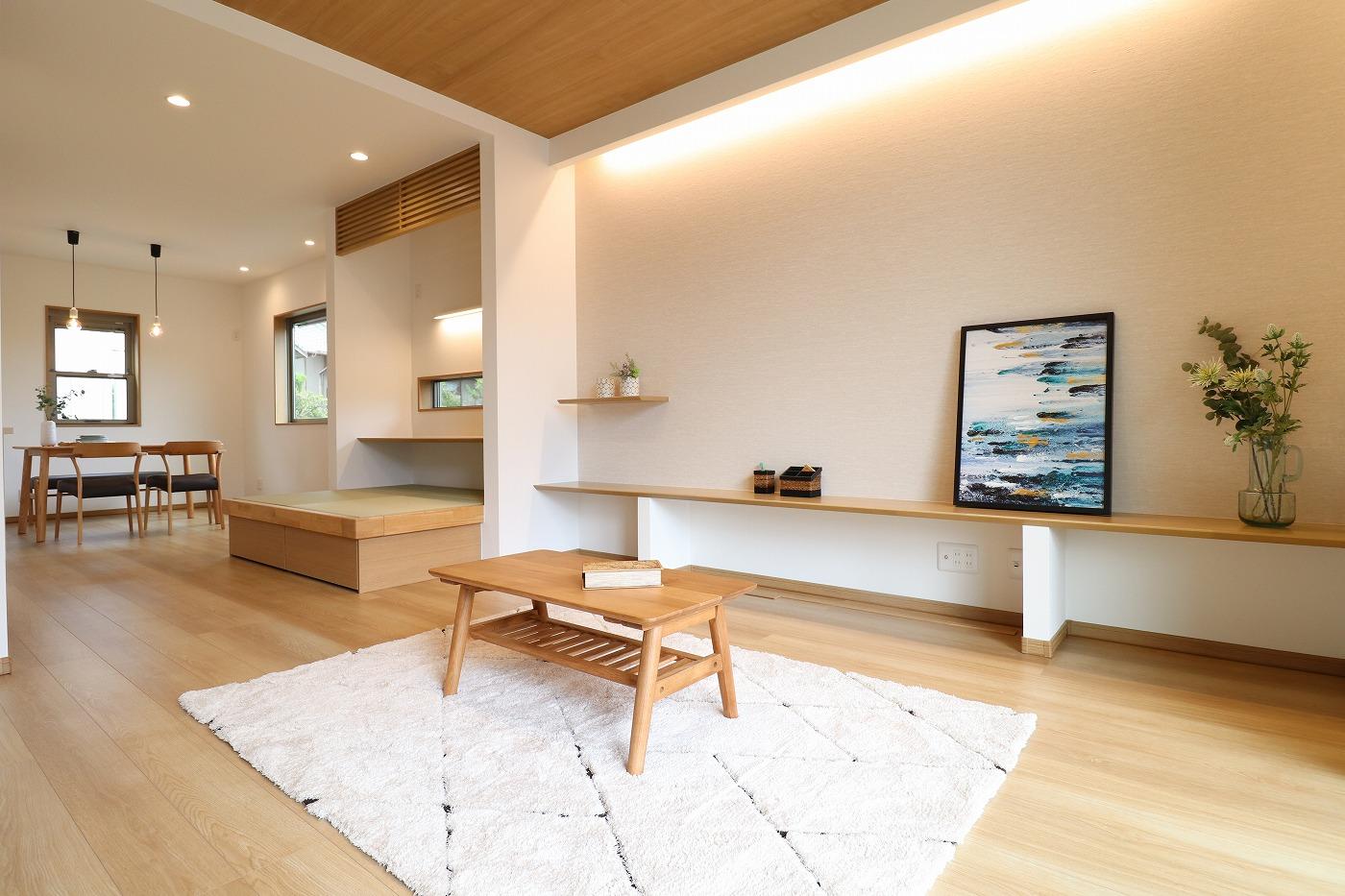 高松市上福岡町の新築分譲住宅のリビング