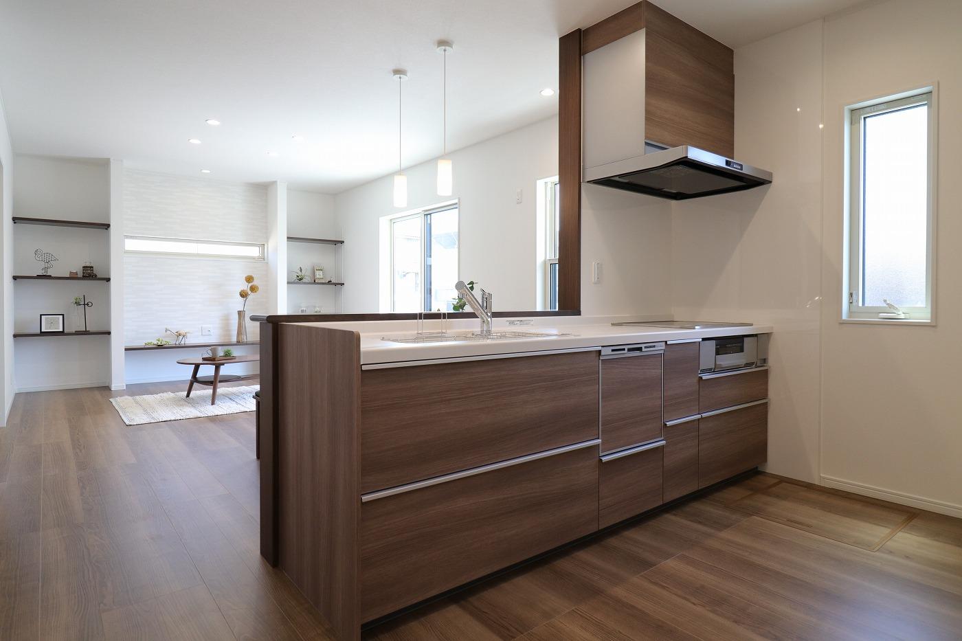 高松市木太町新築分譲建売住宅のキッチン